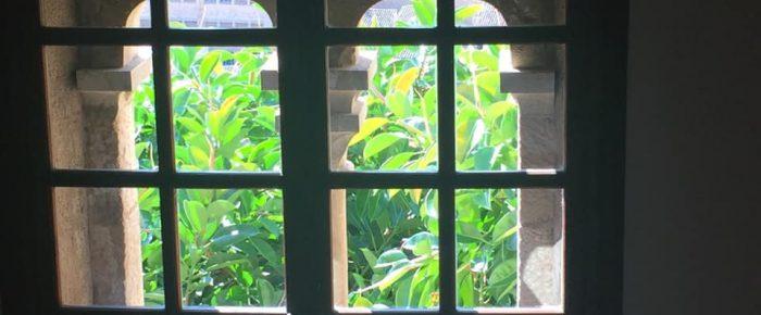 A través de una ventana